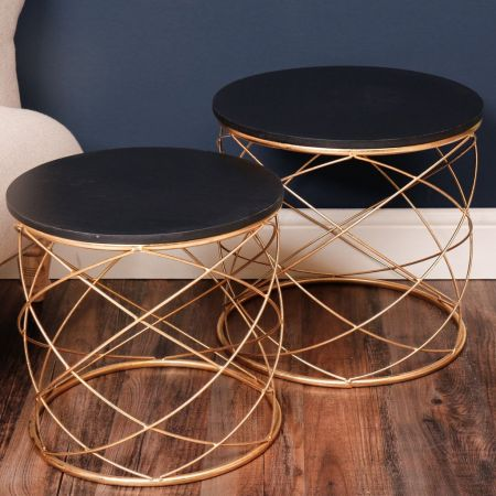 Set of 2 Wire Frame Tables