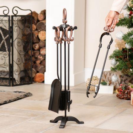 Fireside Freestanding Copper Companion Set