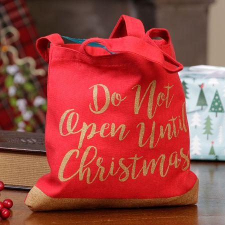 red christmas gift bag