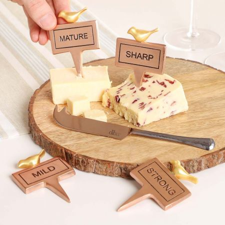 Cheese Markers and Cheese Knife Set