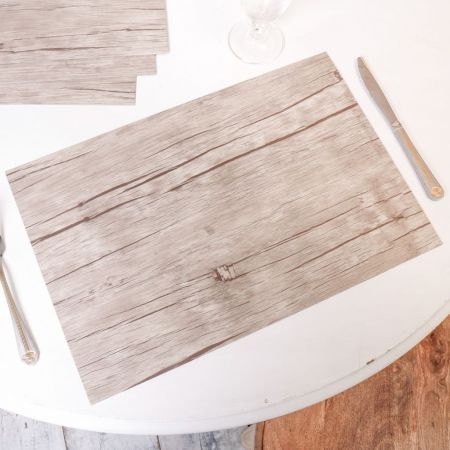 Rustic Driftwood PVC Wooden Placemat