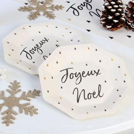 Set of 8 Christmas Paper Plates