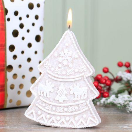 Festive Christmas Tree Shaped Candle