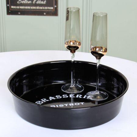 Vintage Parisian Bistro Drinks Tray