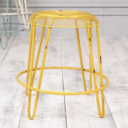 Honey Yellow Industrial Stool