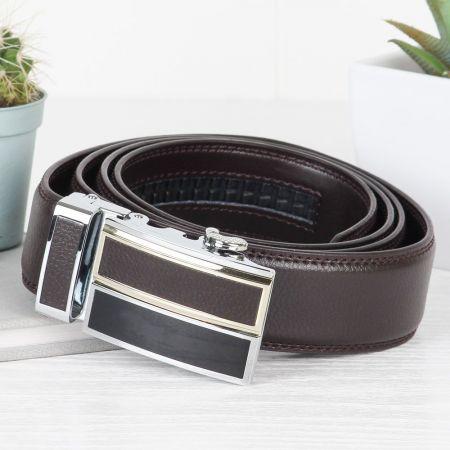Stylish Brown Leather Men's Belt