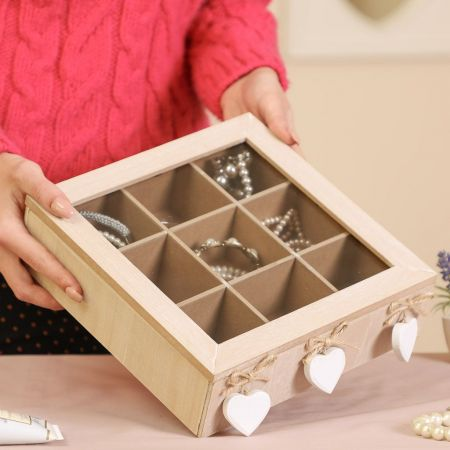 Wooden Compartment Jewellery Box