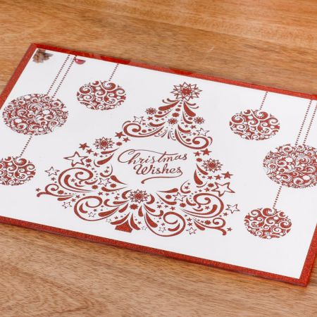 red glitter christmas place mats