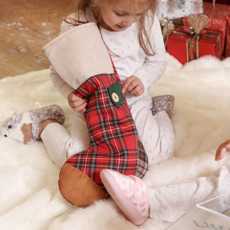 Red Tartan Patchwork Stocking