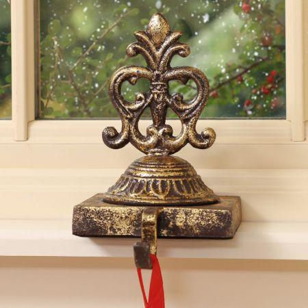 Ornate gold stocking holders