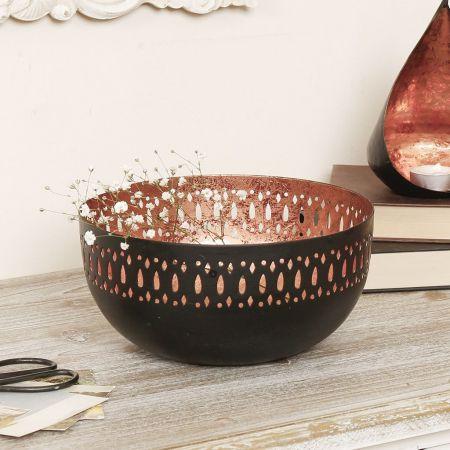 Decorative Black and Copper Bowl
