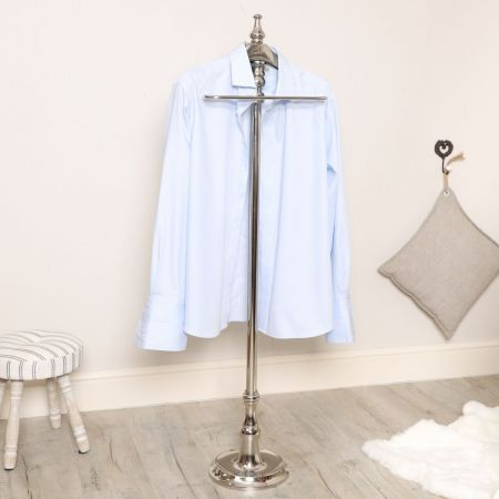 Polished Silver Clothes Valet