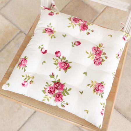 Set of 2 Helmsley Blush Vintage Floral Seat Pads
