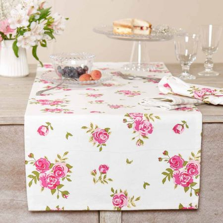Helmsley Blush Vintage Floral Table Runner