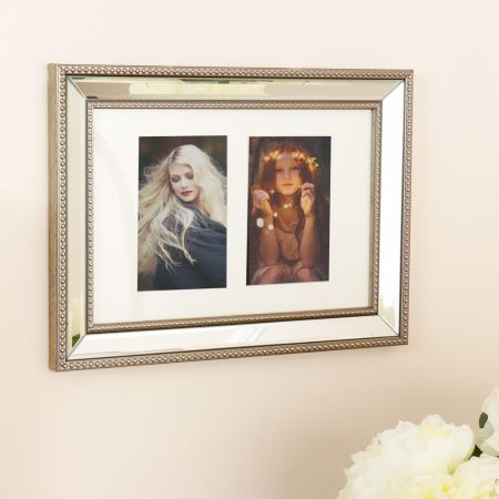 Champagne Bronze Mirrored Photo Frame