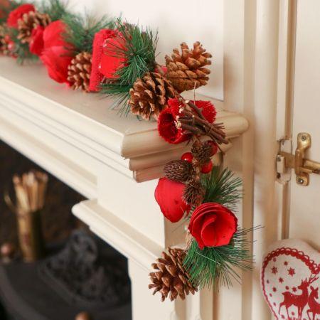 Luxury Rose Christmas Garland