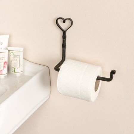 Love Heart Rustic Toilet Roll Holder