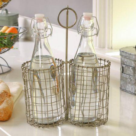 Silver Woven Cutlery Caddy