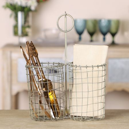 Two Compartment Knives and Forks Holder