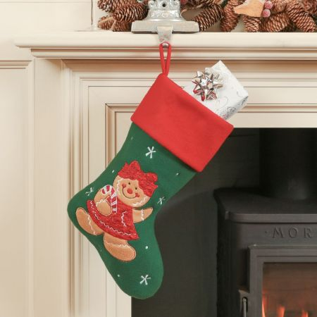 Gretchen The Gingerbread Lady Children's Christmas Stocking