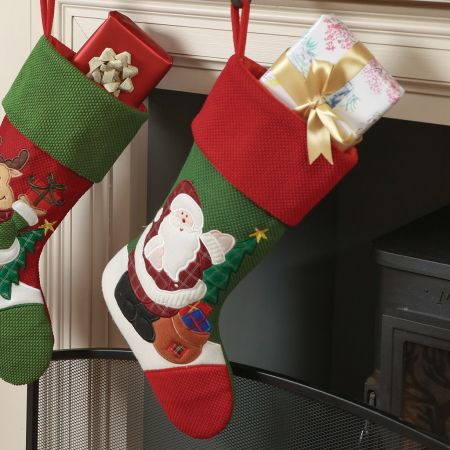 Santa Claus Presents and Tree Children's Christmas Stocking