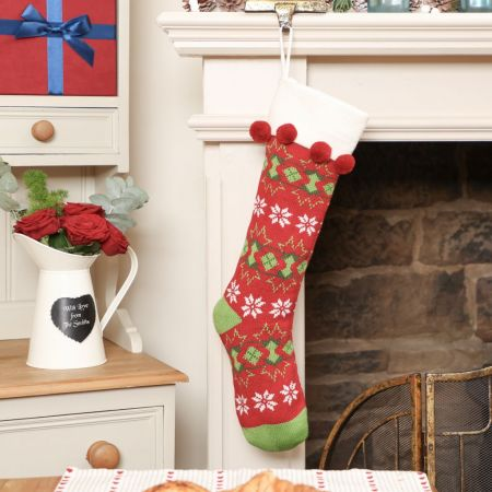 Red Knitted Stocking