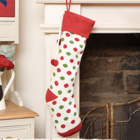 White Polka Dot Stocking