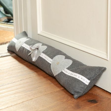 Love heart draught excluder
