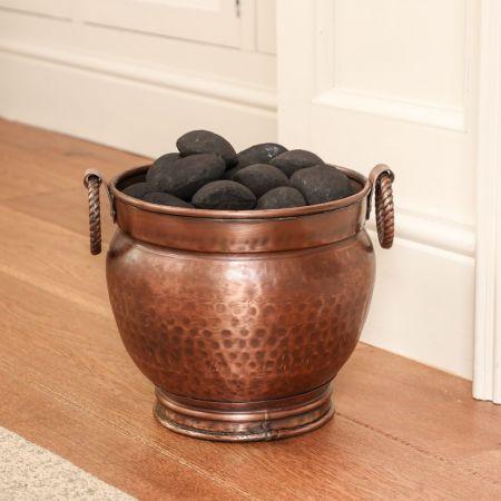 Hammered Copper Coal Bucket