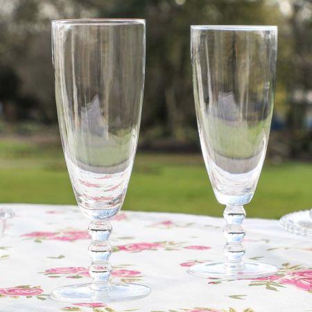Bella Perle Champagne Flutes