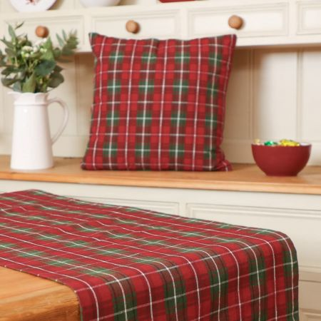 Red and Green Tartan Table Runners
