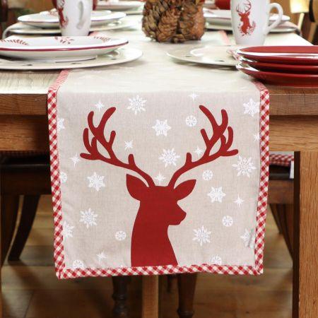 Christmas Reindeer Table Runner