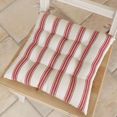 red stripe seat pad