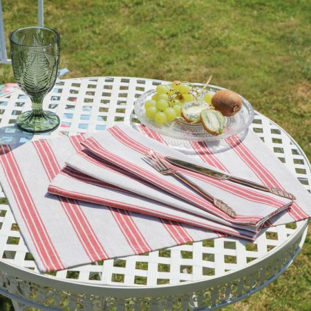 Red Striped Placemats