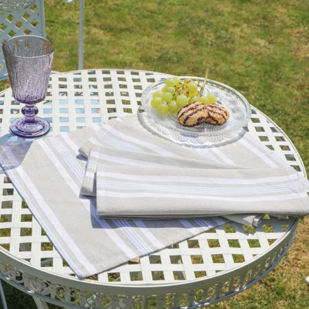 Millstone Blue Striped Fabric Placemat