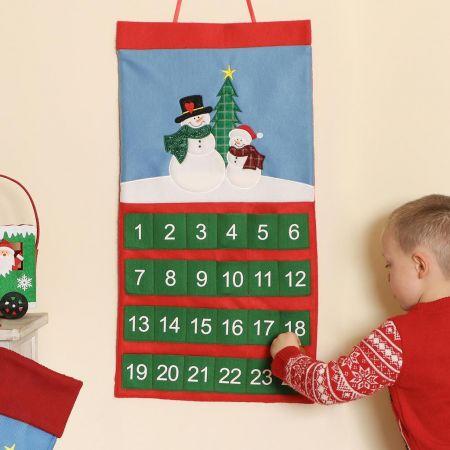 Snowmen Family Fabric Advent Calendar