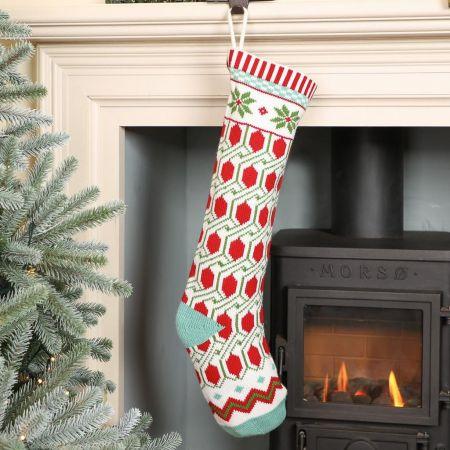 Geometric Pattern Festive Stocking