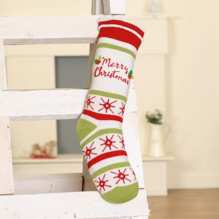 Candy Stripe Merry Christmas Stocking