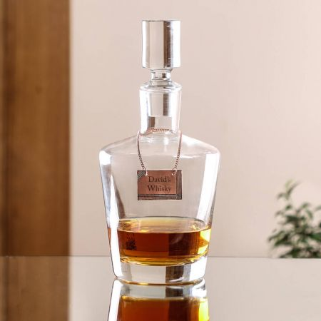 Personalised Glass Whisky Decanter