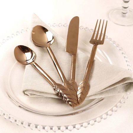 Botanical Gold Leaf Cutlery Set