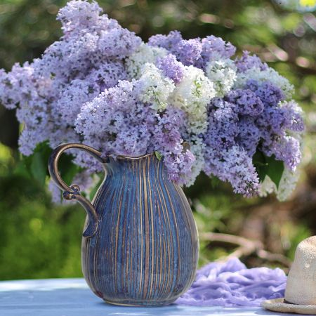 Luxury Blue Pitcher Jug Vase