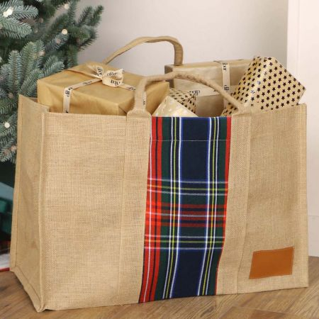 Sustainable Traditional Tartan Christmas Large Gifting Bag