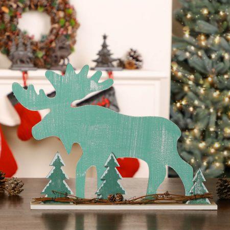 Standing Moose Christmas Decoration