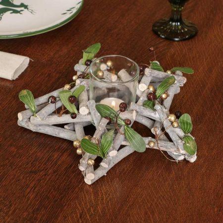 Mistletoe Candle Holder