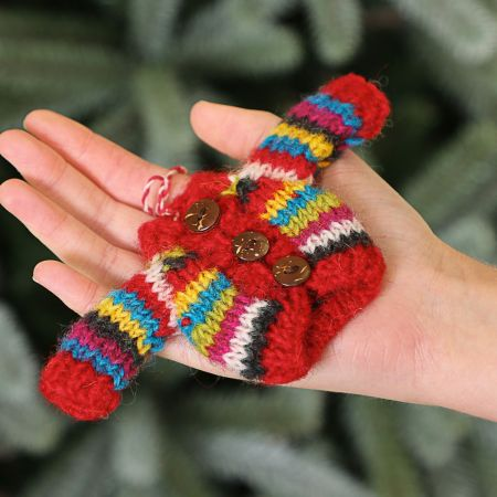 Fair Trade Knitted Cardigan Christmas Decoration
