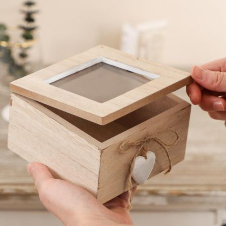 Keepsake Box with Glass Lid