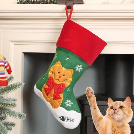 Christmas Cat Pet Stocking