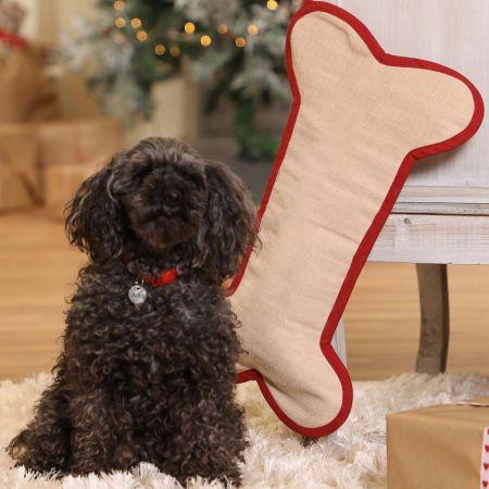 Pet Treats Bone Christmas Stocking
