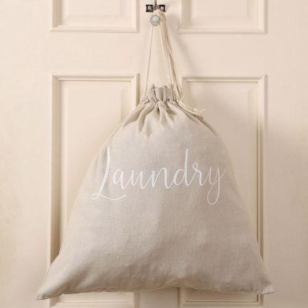 Grey Laundry Bag