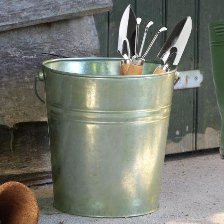 Large Vintage Garden Tool Storage Bucket